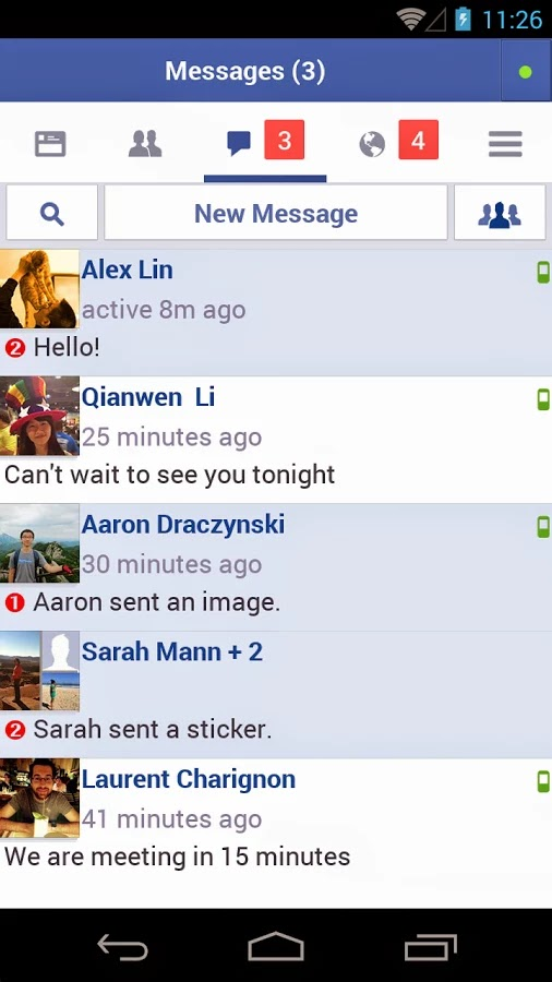 Facebook Lite Android Message