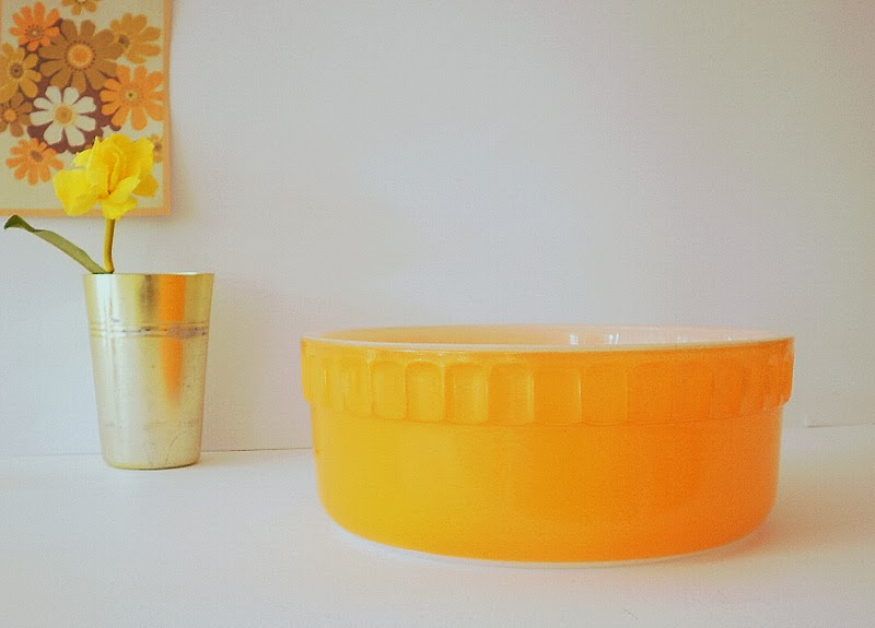 Vintage Agee Pyrex dish  Photo Styling By She and Me Vintage