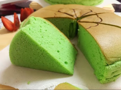 Resep Ogura Cake Pandan