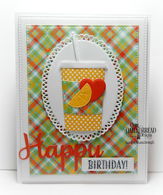 Our Daily Bread Designs Stamp Sets: I Love Coffee, Our Daily Bread Designs Custom Dies: Beverage Cup, Pierced Rectangles, Ornate Ovals, Happy Birthday, Our Daily Bread Designs Paper Collection:  Birthday Brights