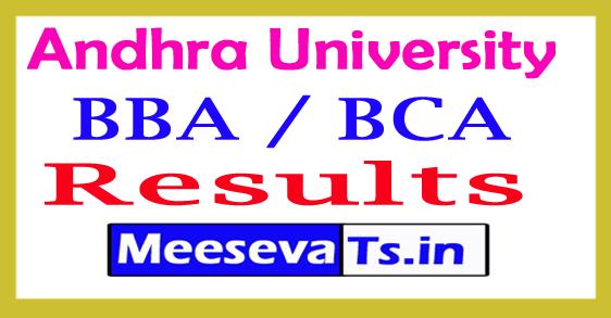 Andhra University BBA / BCA 4th Sem Results