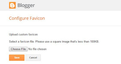 How to change your Blogger favicon 3