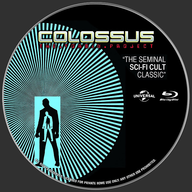 Colossus: The Forbin Project Bluray Label