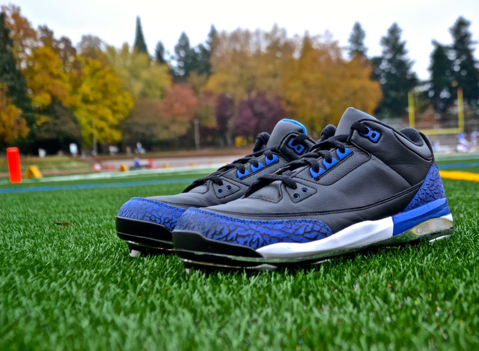 13b8e90991b4d2 You are looking at the Air Jordan 3 cleat intended to be worn by Marvin  Harrison during the 2009 season. We ve seen the black and white cement 3  cleats ...