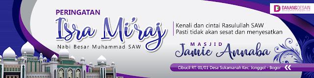Contoh Desain Banner atau Spanduk Isra Mi'raj - Contoh ...