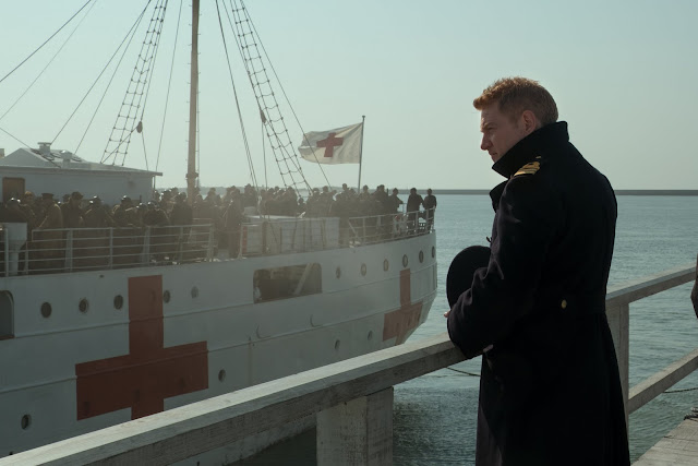 Kenneth Branagh as Commander Bolton on The Mole in Dunkirk