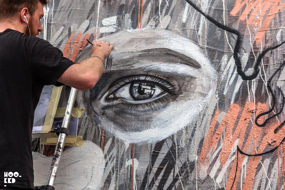 Impressive Fashion Portrait Murals by Street Artist AntCarver