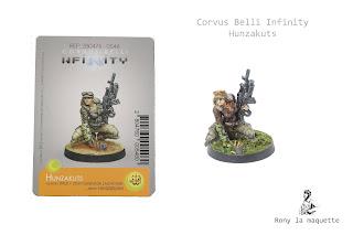 Figurine Hunzakuts du jeu Corvus belli Infinity.