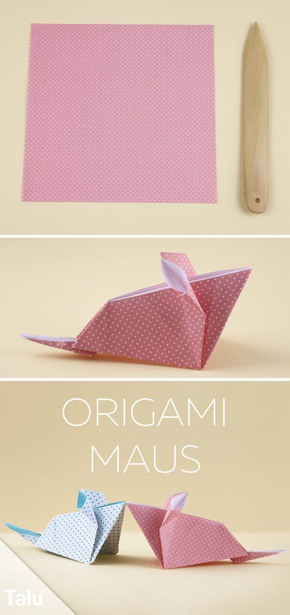 Origami Maus falten - Anleitung