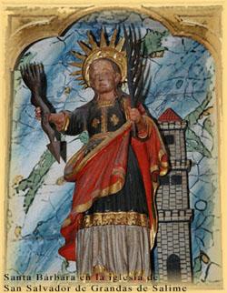 Santa Bárbara de la Colegiata de San Salvador de Grandas de Salime