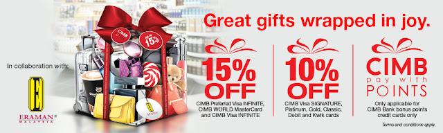 Eraman Duty Free CIMB Card Discount Promo