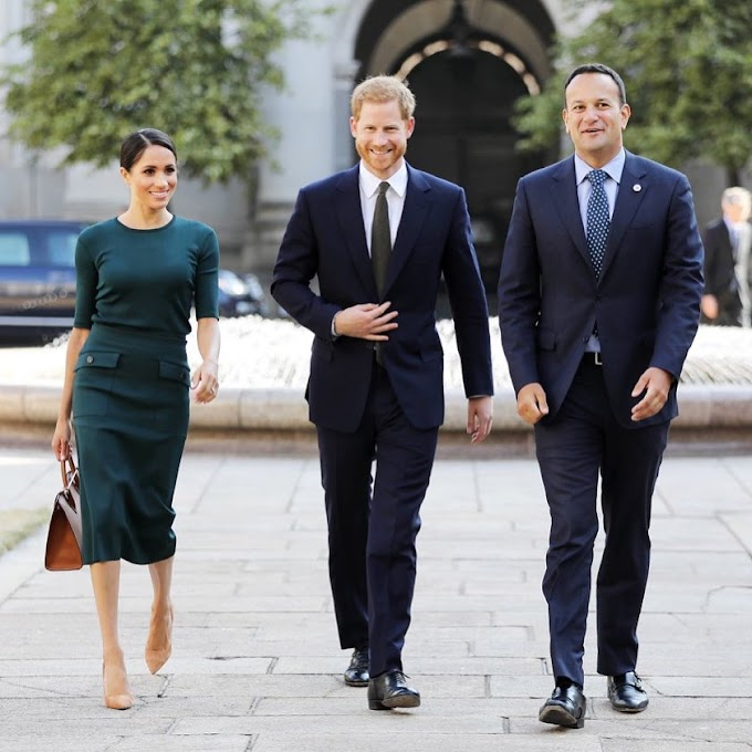 Meghan, Duchess of Sussex and Prince Harry, Duke of Sussex arrive Ireland for Two-Day Official Visit