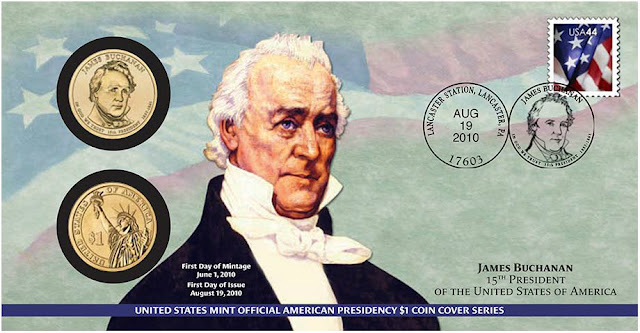 President James Buchanan 2010 One Dollar Coin Cover