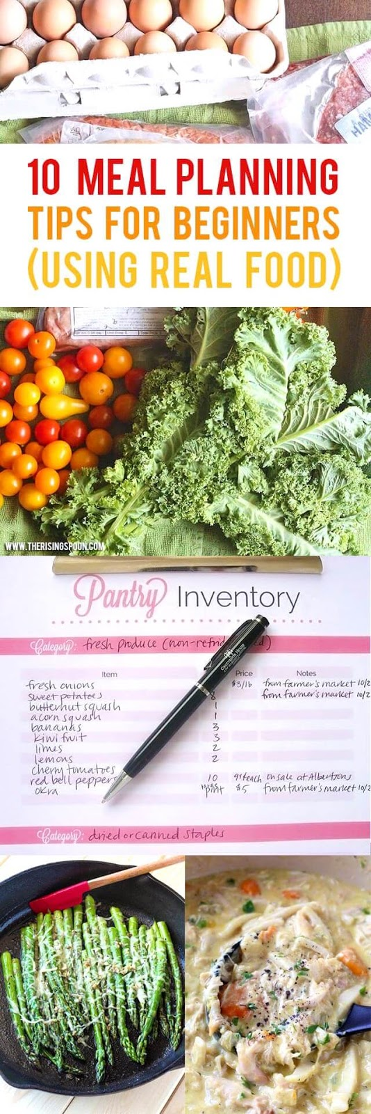 Are you a beginner who'd like to start meal planning, but the idea of actually doing it makes you want to pull out your hair? I'm with you! Check out my post for some easy tips to help you ease into the habit of planning, so you can start wasting less food, saving more money, and stressing less about what's for dinner.