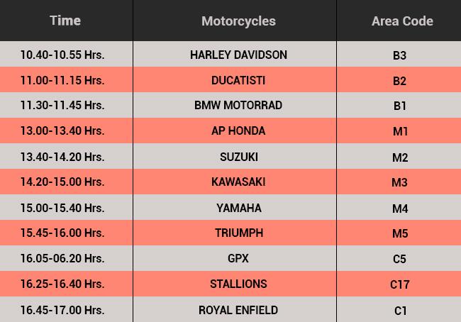 37th Bangkok International Motor Show Motorcycle Schedule
