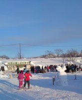 Winter Festival on northern latitude of 45 degrees, Nakatonbetsu, Hokkaido