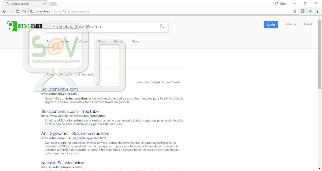 redirecciones de DefendSearch.com