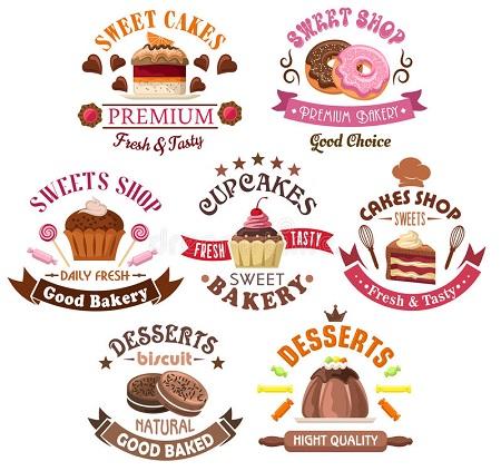 Những mẫu logo đẹp cho tiệm bánh ngọt
