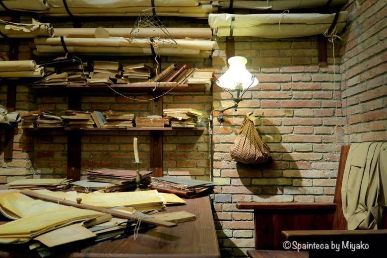 世界遺産サグラダ·ファミリア教会のガウディの書斎