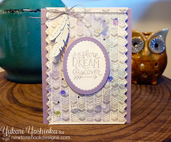 Arrow and feathers card by Yukari Yoshioka | Points & Plumes dies & Adventure Awaits stamp set by Newton's Nook Designs #newtonsnook