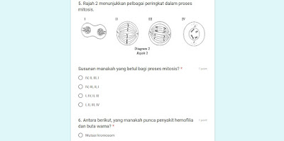 Google Form : Jawab Online 10 Set Soalan Sains SPM Kertas 1