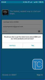 Cara Bikin Alamat Email BBM