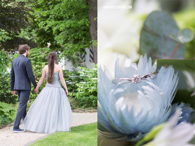 Hochzeit Farbschema Grau und Blau