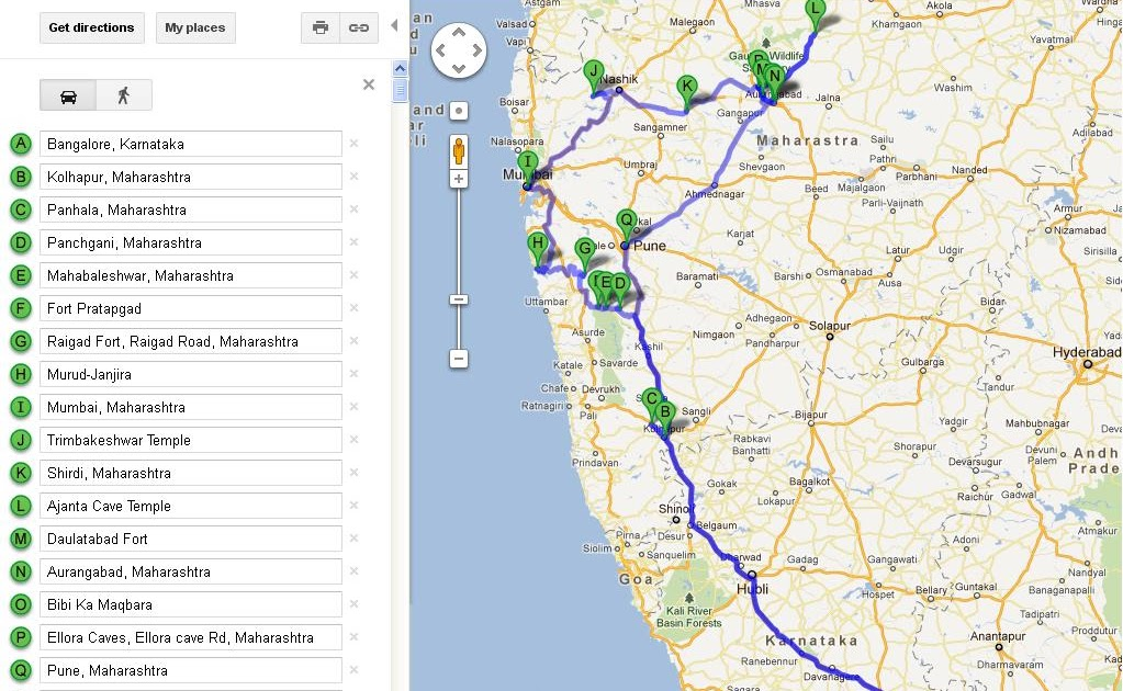 S Map Maharashtra Jyotirlinga