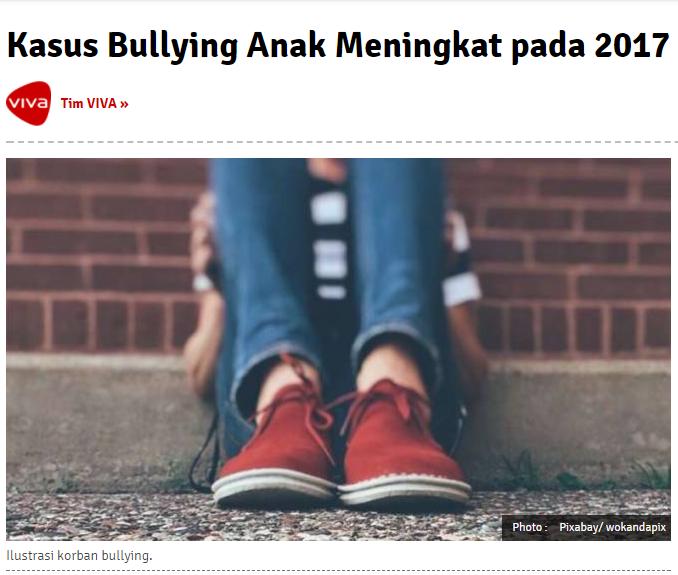 Kasus Bullying Anak Meningkat pada 2017
