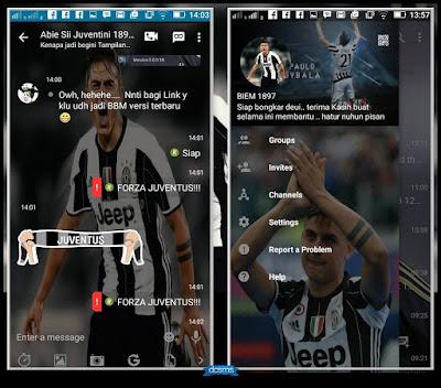 BBM Juventus V3.0.0.18 MOD Terbaru Agustus 2016 BBM Tema Football keren