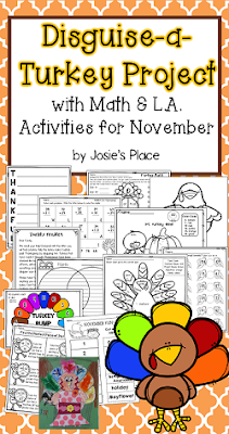 https://www.teacherspayteachers.com/Product/Disguise-a-Turkey-Activity-with-Math-and-LA-Activities-for-November-2865934