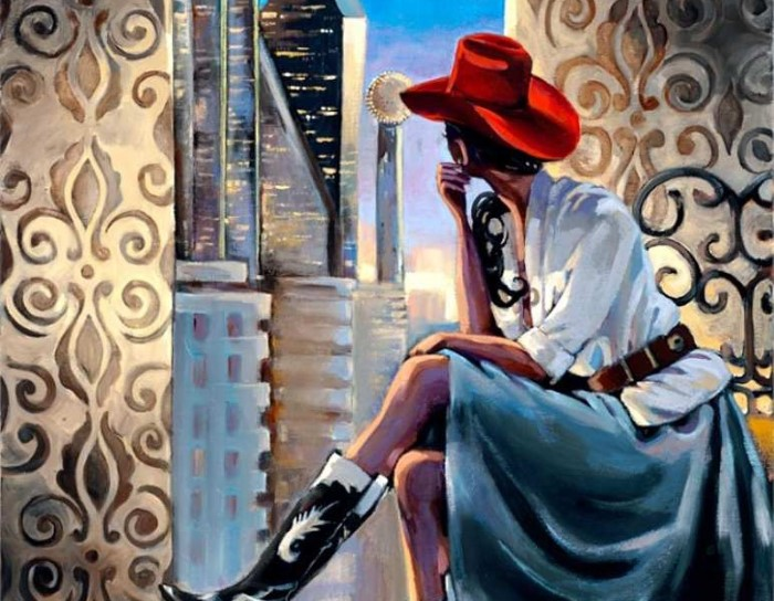Яркие и захватывающие дух полотна в стиле ар-деко. Trish Biddle