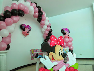 DECORACION FIESTA MINNIE MOUSE MEDELLIN