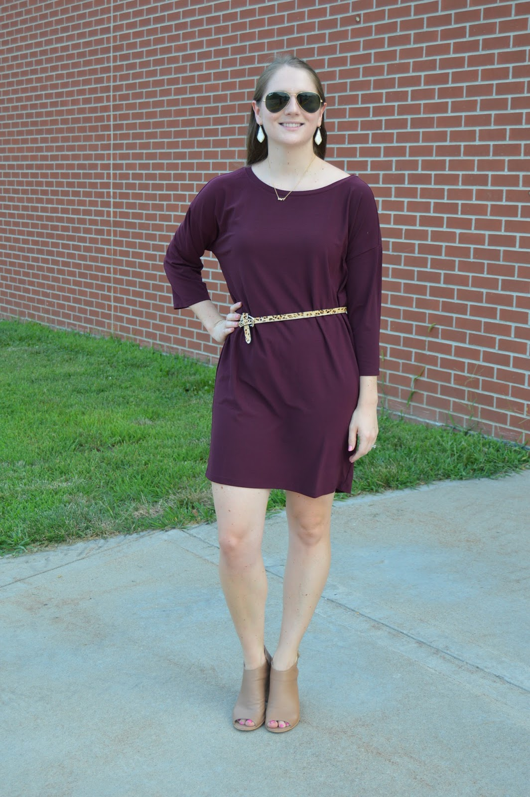 leith dolman shift dress from the nordstrom anniversary sale | how to style a shift dress | belt over a dress | summer outfit ideas | what to wear this summer | summer to fall transition outfits | cute outfits for a date night this summer | a memory of us  |