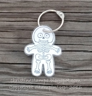 Cookie Cutter Halloween Skeleton tag