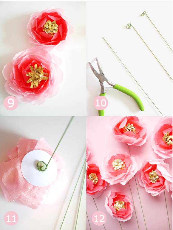 DIY Crepe Paper Flowers Bouquet for Mother's Day or Weddings - BirdsParty.com