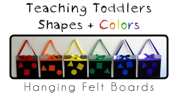 Teaching Toddlers Shapes & Colors