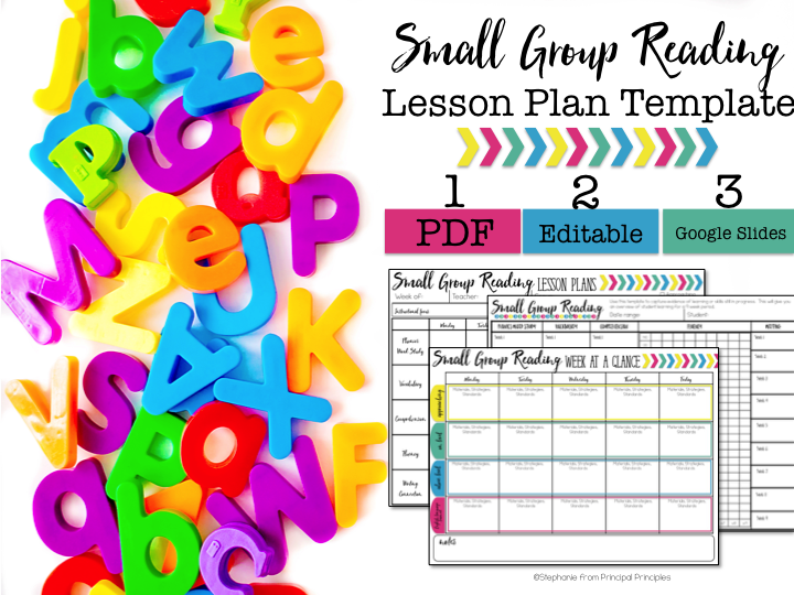 Lesson Plantemplate With Video Tutorial Principal Principles