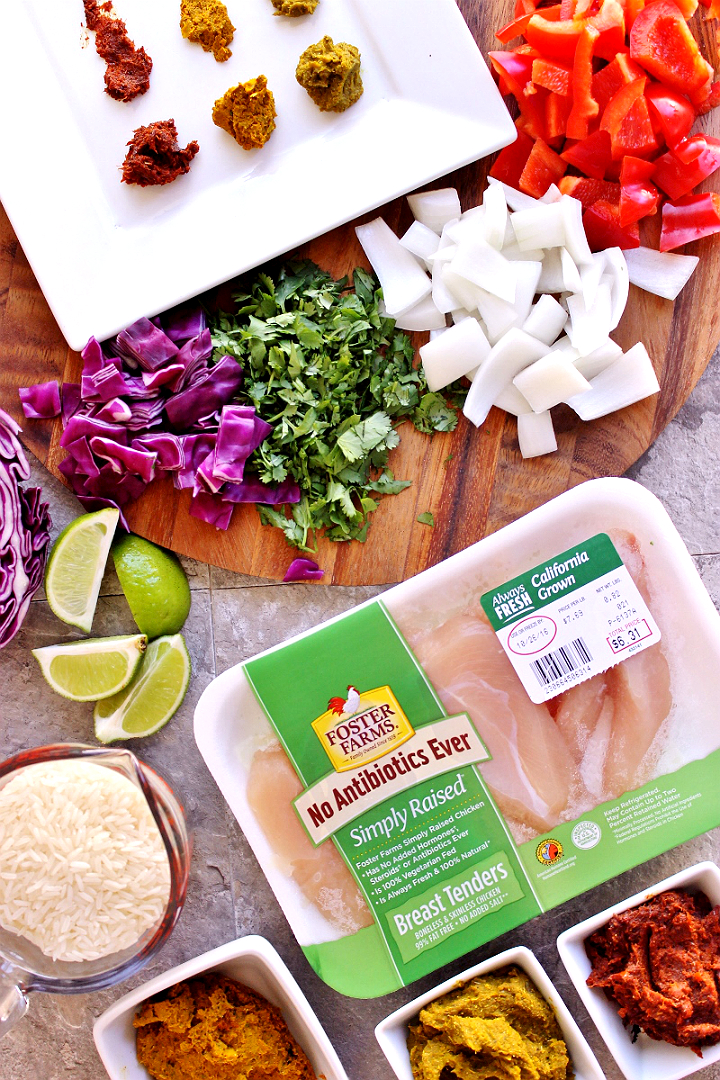 Simple Chicken Curry From Scratch Recipe- The #NewComfortFood is simple to prepare recipes made with real, whole ingredients like locally raised Foster Farms Simply Raised chicken- free of antibiotics and no-added hormones. (AD) #TheNewComfortFood is made with @FosterFarms Simply Raised. AD https://ooh.li/8210708