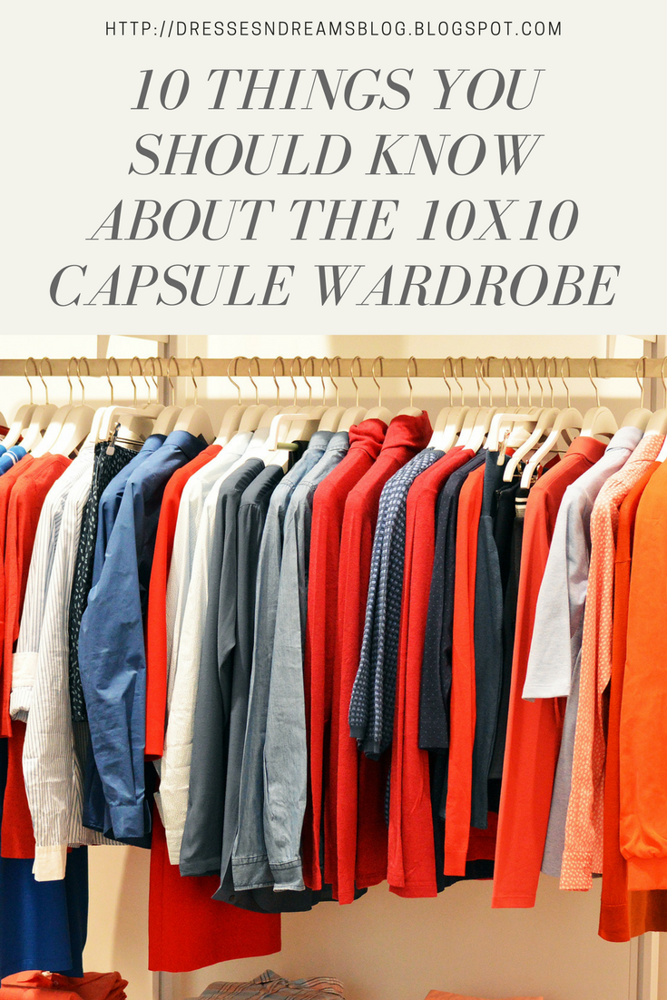 10 Things you should know about the 10x10 capsule wardrobe challenge
