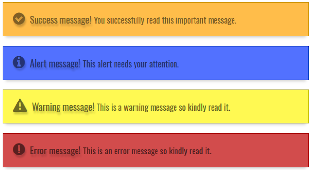 Notification Boxes in Blogger