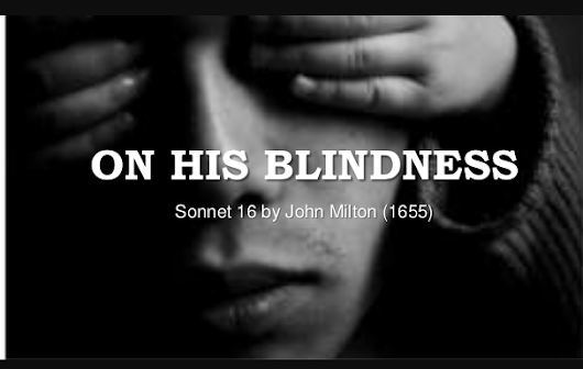 On His Blindness By John Milton | Shot Notes OF On His Blindness By John Milton | Vinglishclub.com