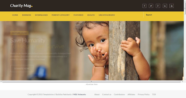 Charity Mags (Responsive Blogger Template)