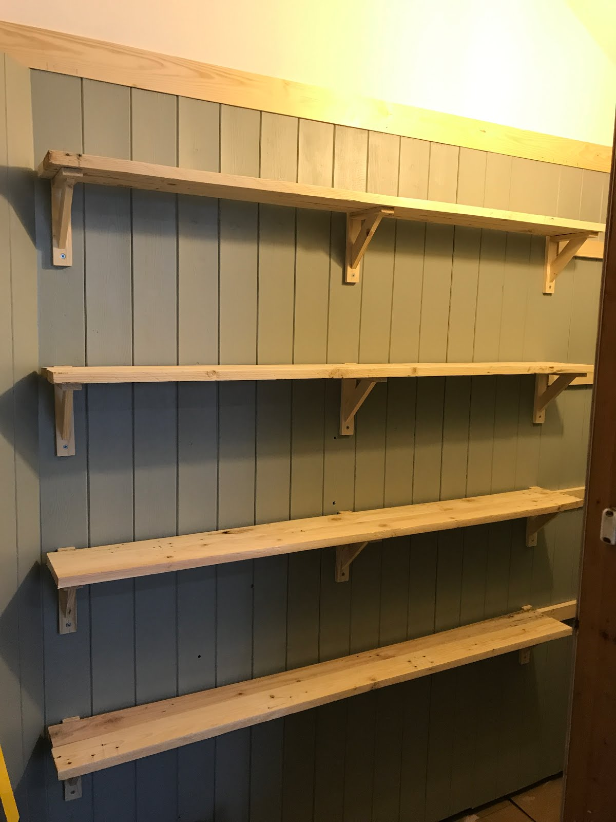 Shelves made from pallet wood