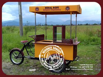 produksi gerobak sepeda bekal kopi