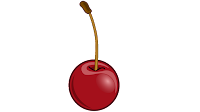 single cherry clipart