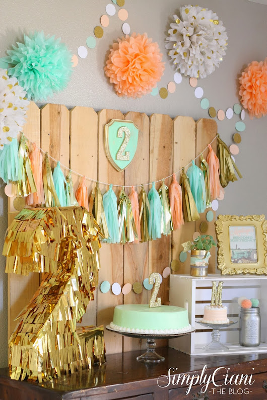 Peach, Mint & Gold Farm Fresh Birthday Party
