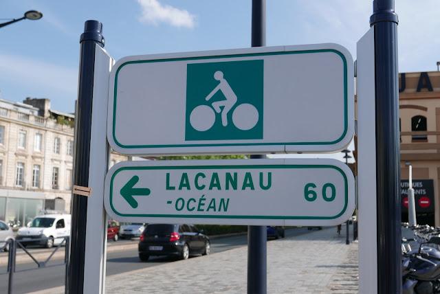Vélodyssée - Bordeaux panneaux indicateurs