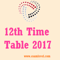 Odisha CHSE Time Table 2017
