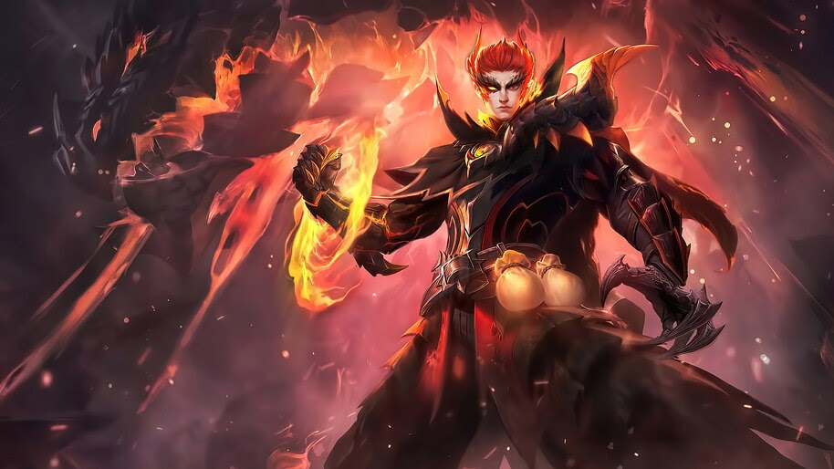 Valir, Draconic Flame, Mobile Legends, Skin, 4K, #3.2023